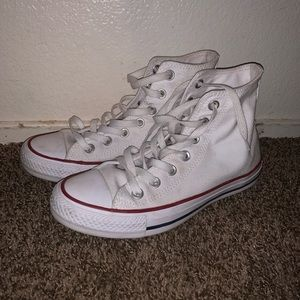 White high top converse size 6 men's 8 women's